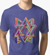 Abstract Triangles Tri-blend T-Shirt