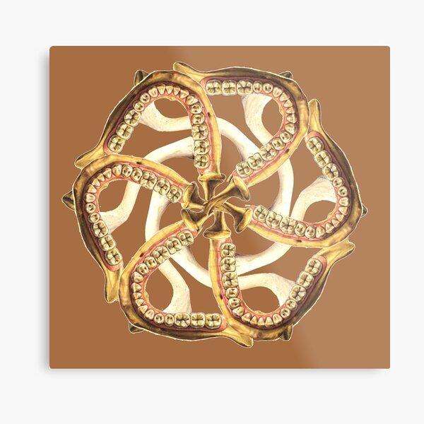 Mandible-Clavicle Blossom-Cocoa Metal Print