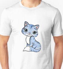 Animal Blue Cartoon Cat Feline Pet Unisex T-Shirt