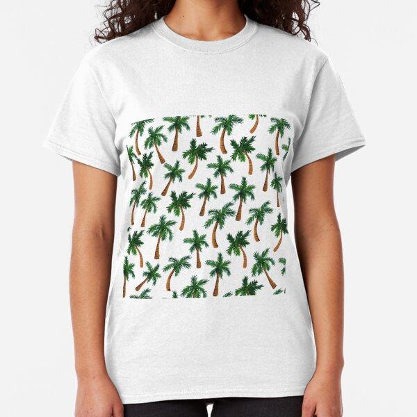 Palm Tree Print Classic T-Shirt