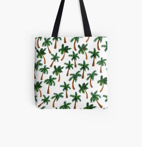 Palm Tree Print All Over Print Tote Bag