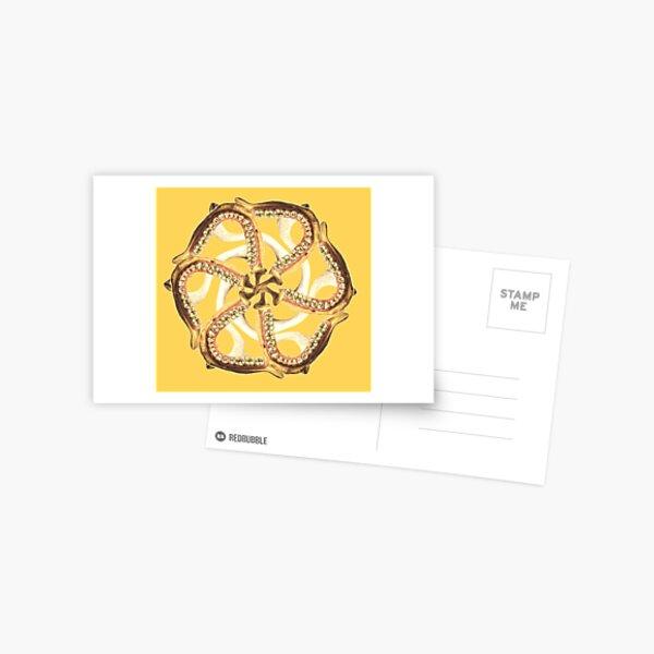 Mandible-Clavicle Blossom-Gold Postcard