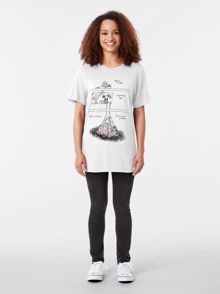 Alternate view of Supplemental Data Slim Fit T-Shirt