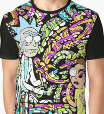 Trippy Snake Stuff - Rick and Morty Graphic T-Shirt