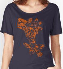 Giraffe Orange Women's Relaxed Fit T-Shirt