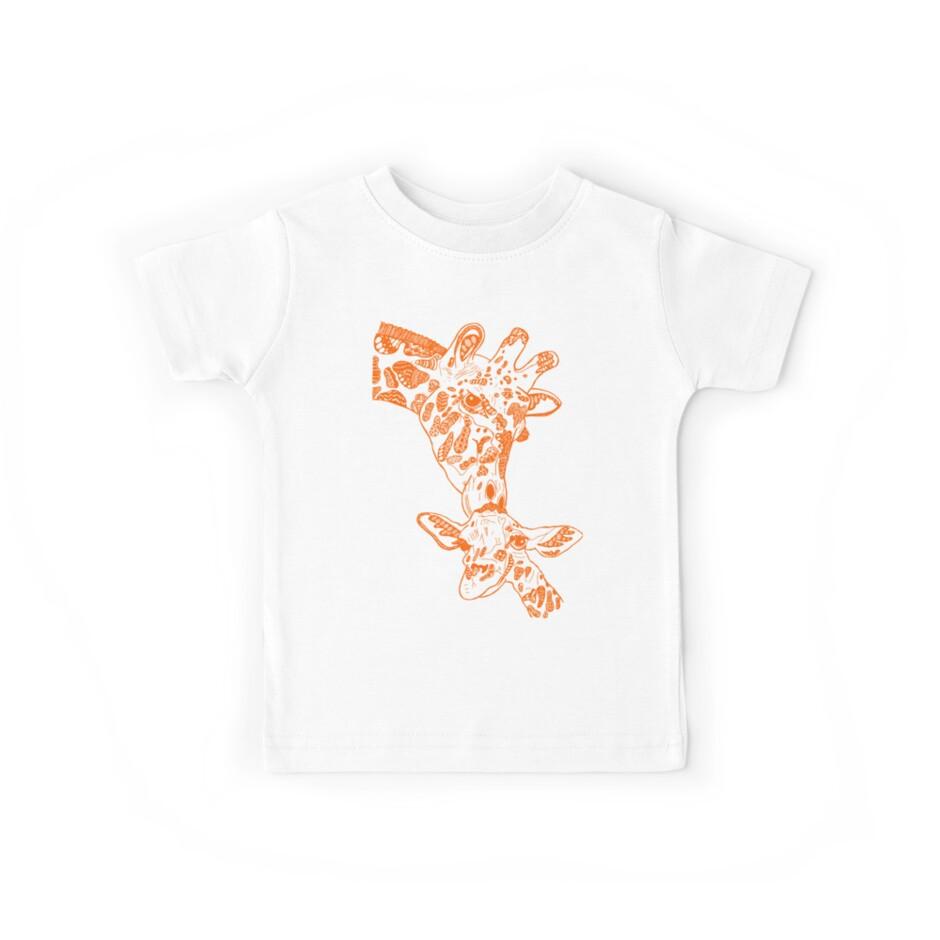Giraffe Orange by -lineandtide-
