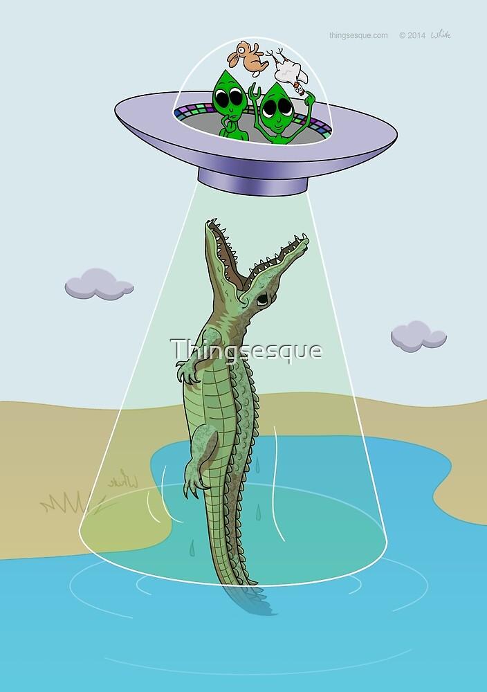 Alien Abduction Trauma (crocodile edition) by Thingsesque