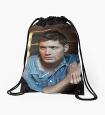 Handsome Jensen Ackles Drawstring Bag
