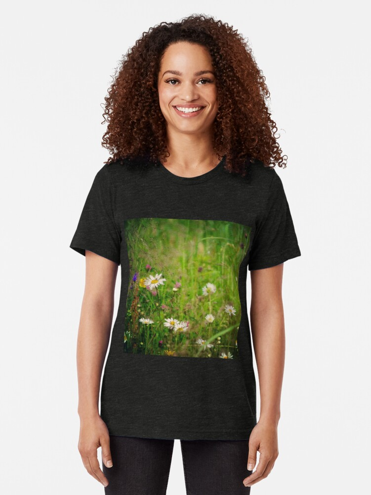 Alternate view of Floral nature Tri-blend T-Shirt