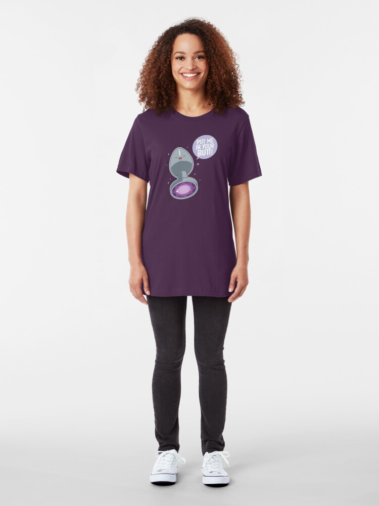 Alternate view of Make your butt look pretty! Slim Fit T-Shirt