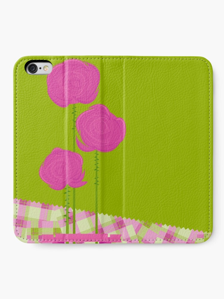 Alternate view of Pink Roses iPhone Wallet