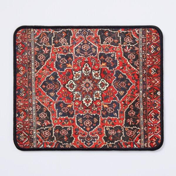 Tufted carpet / loop pile / Bakhtiari Rug | Antique Persian Bakhtiari Carpet wool  Mouse Pad