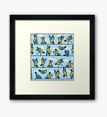 Yoga Is For The Birds! Framed Print