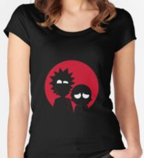 Minimalist Characters - Rick and Morty Women's Fitted Scoop T-Shirt