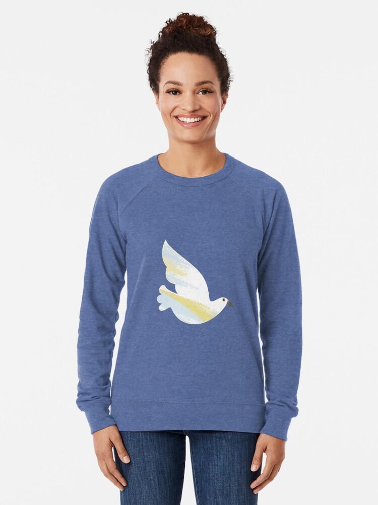 Alternate view of Christmas Dove Lightweight Sweatshirt
