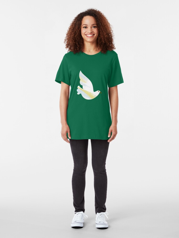 Alternate view of Christmas Dove Slim Fit T-Shirt