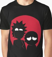 Minimalist Characters - Rick and Morty Graphic T-Shirt