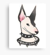 Bully Dog Puppy Love Canvas Print