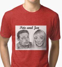John Thomson and Fay Ripley play Pete and Jen Tri-blend T-Shirt