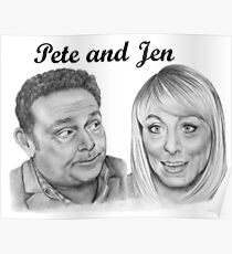 John Thomson and Fay Ripley play Pete and Jen Poster