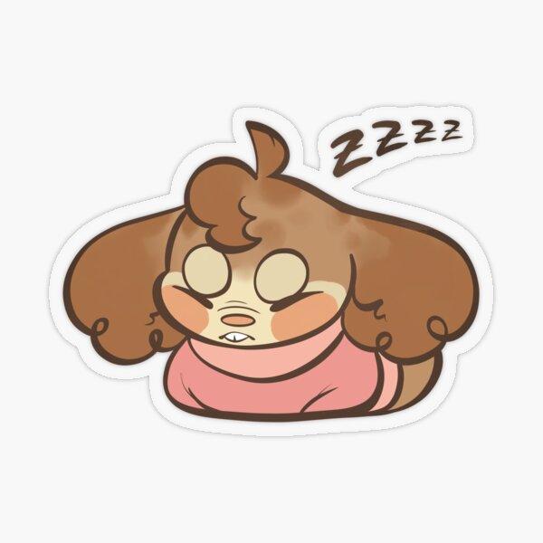 Sleepy Tobacco Transparent Sticker