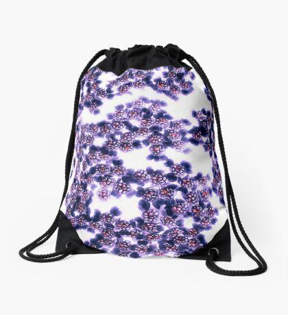 Black Yarrow Drawstring Bag