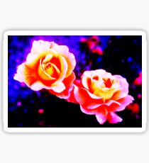 Psychedelic Roses Sticker