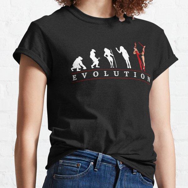 Womens Aerial Silk Evolution of Woman Classic T-Shirt
