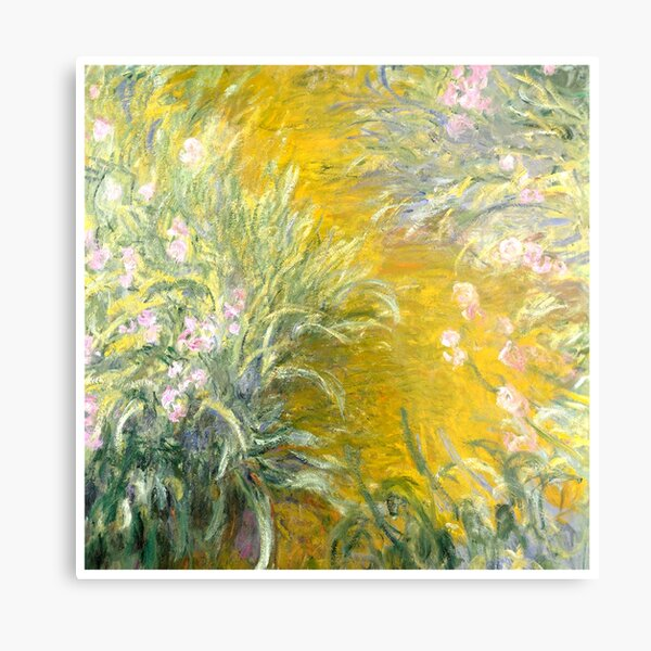 The Path through the Irises Metal Print