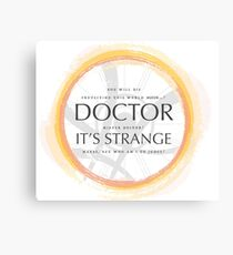 Dr Strange Canvas Print