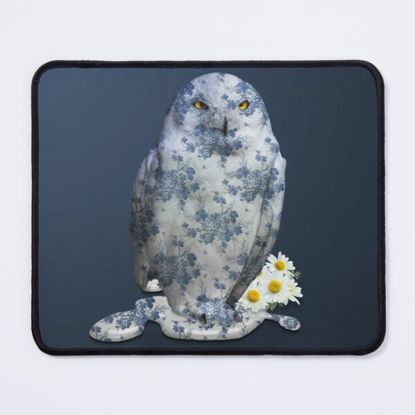 Unhappy Owl Mouse Pad