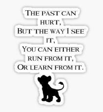 Lion King quote  Sticker