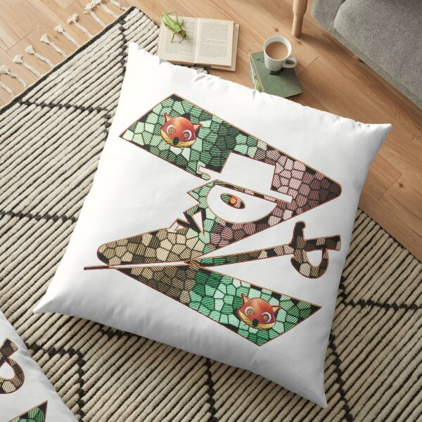 In the name of Zorro - Zorro is cheeky like a fox - Z like Zorro with his famous sword! Floor Pillow