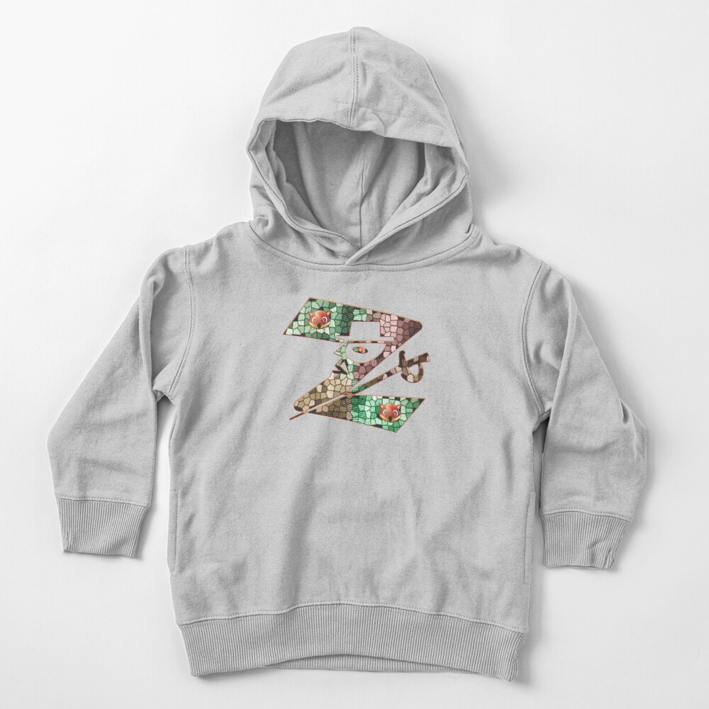 In the name of Zorro - Zorro is cheeky like a fox - Z like Zorro with his famous sword! Toddler Pullover Hoodie