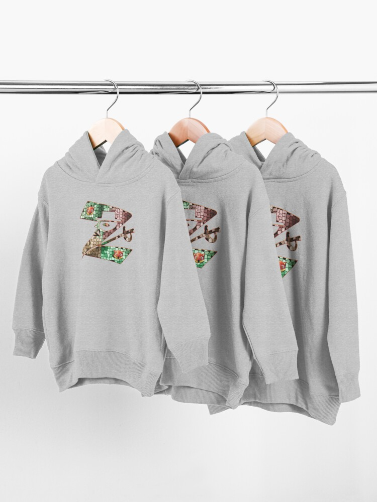 Alternate view of  In the name of Zorro - Zorro is cheeky like a fox - Z like Zorro with his famous sword! Toddler Pullover Hoodie