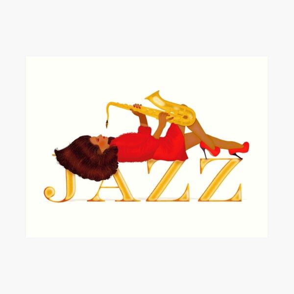 The jazz girl 2 Art Print