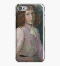At the River's Head, River Epte, Giverny, France by Lilla Cabot Perry iPhone Case/Skin