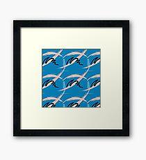 Blue brush pattern Framed Print