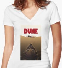 Dune Jaws Women's Fitted V-Neck T-Shirt