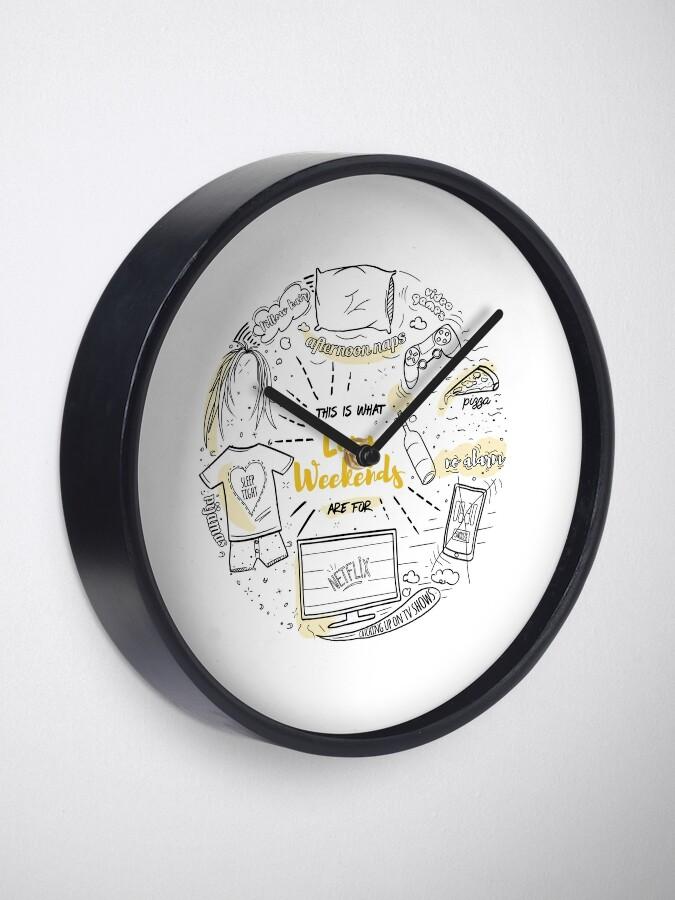 Alternate view of Loon lazy weekends Clock