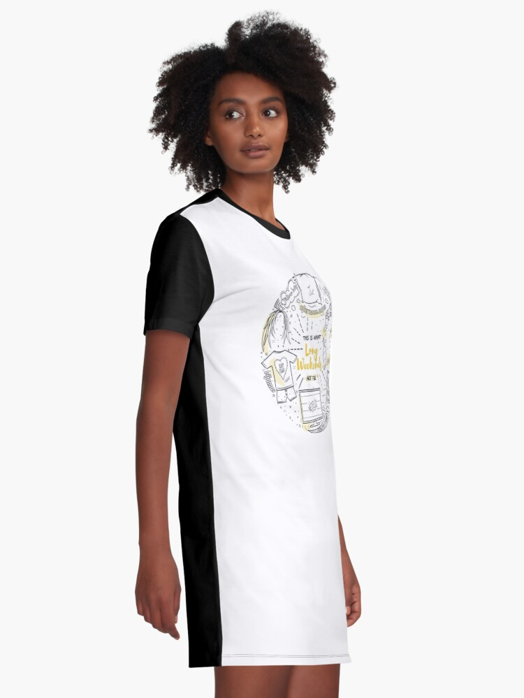 Alternate view of Loon lazy weekends Graphic T-Shirt Dress