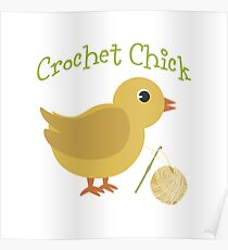 Crochet chick Poster