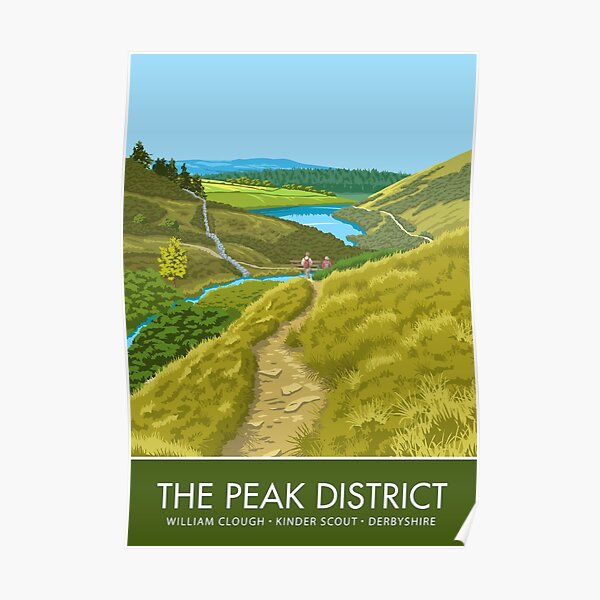 The Peak District, William Clough, Derbyshire Poster