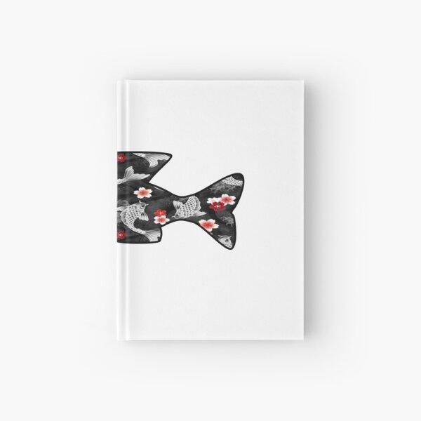 Koi Water Fish Hardcover Journal