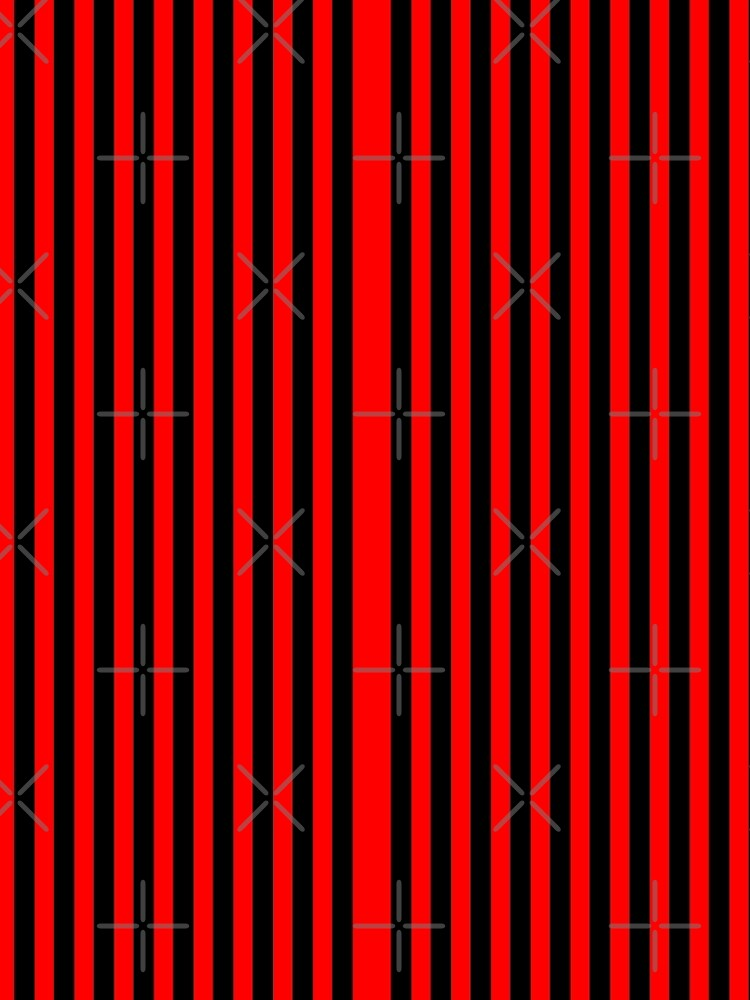 Thin Vertical Red Stripes on Black Easy Simple Costume by that5280lady