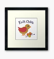 Knit Chick Framed Print