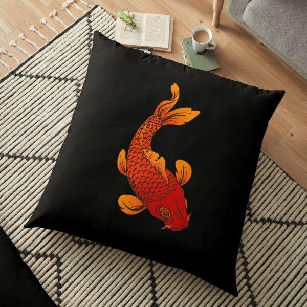 Sanshoku Koi Floor Pillow