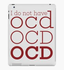 OCD  iPad Case/Skin