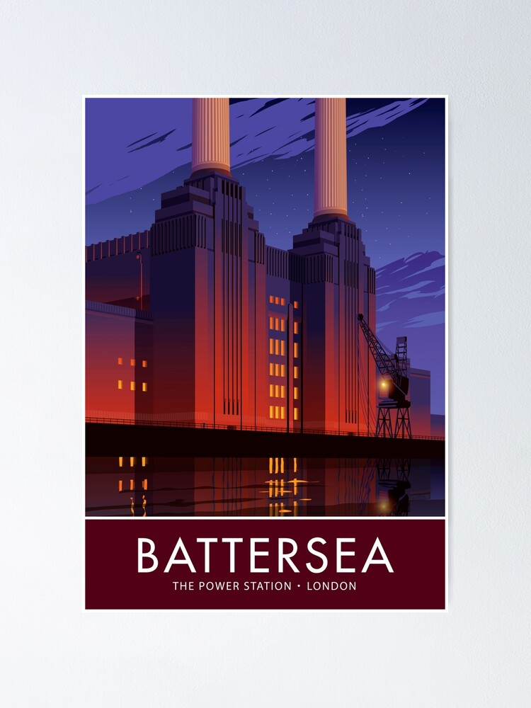 Alternate view of Battersea Power Station Poster