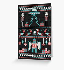 Paranormal Sweater Party Greeting Card